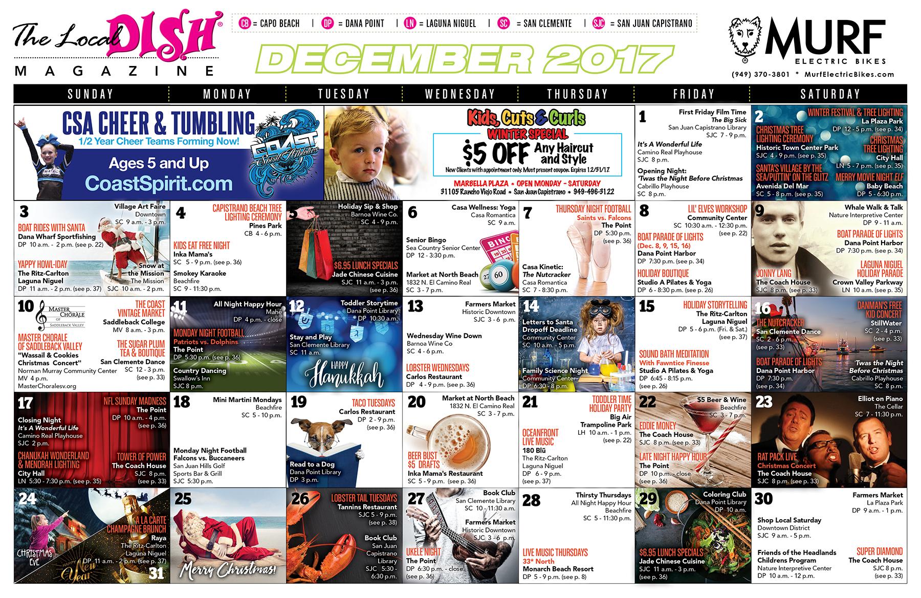 Calendar of Events for South OC